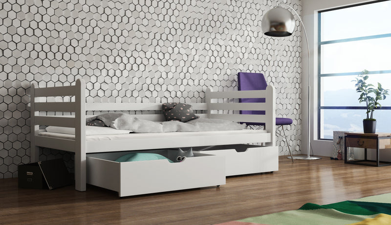 Wooden Single Bed Simon with Storage