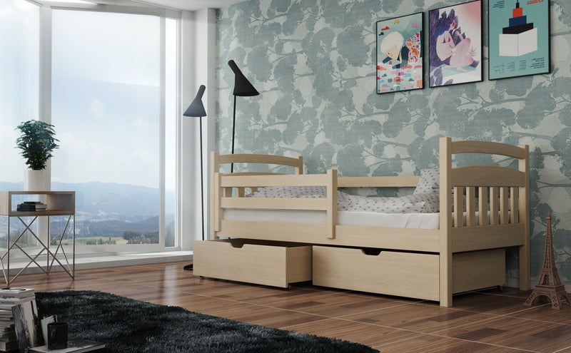 Wooden Single Bed Solo with Storage