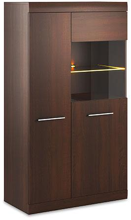 Bordo Display Cabinet 06 in Oak Chocolate