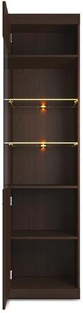 Bordo Tall Display Cabinet 02 Oak Chocolate