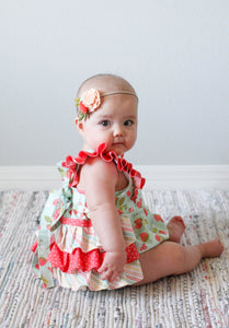 Vintage Summer Strawberry Emmy Romper