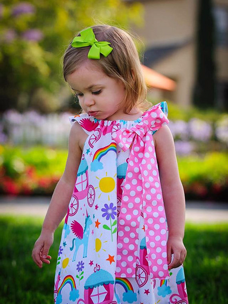 Rainbow and Unicorn Chandler Dress