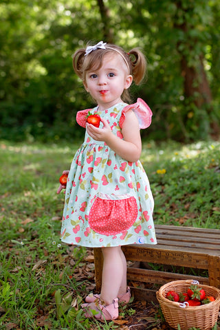 Vintage Summer Strawberry Ellie Dress