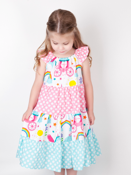 Rainbow and Unicorn Kendall Dress