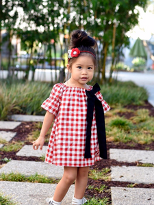 Red Plaid Simple Dress