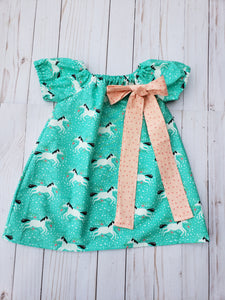 Unicorn Simple Dress with Bow