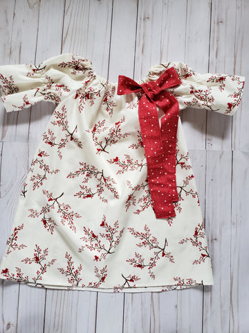 Blu Christmas Cardinals Simple Dress