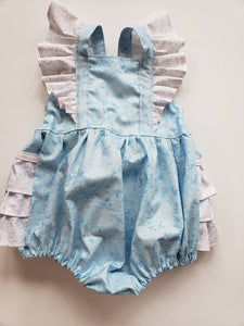 Blue and White Sparkle  Emmy Romper