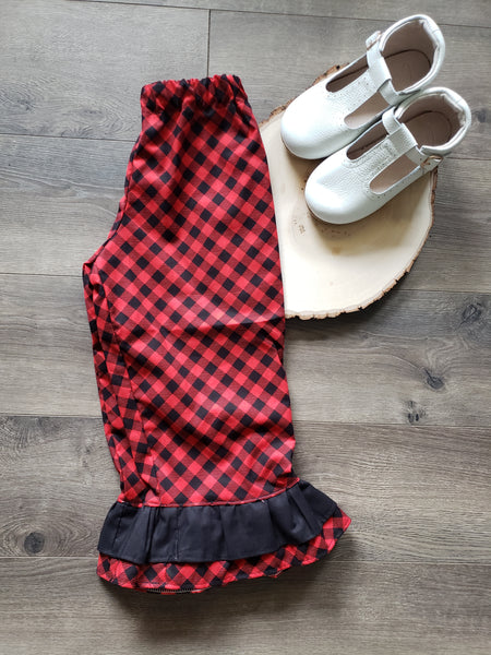 Vintage Christmas Dress and Pant Bundle