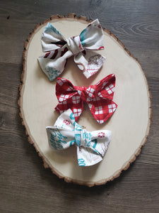 Hot Cocoa Hair Bow Set