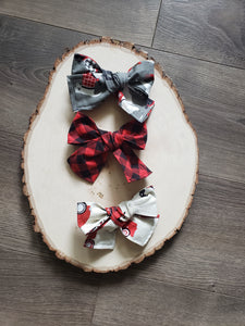 Vintage Christmas Hair Bow Set