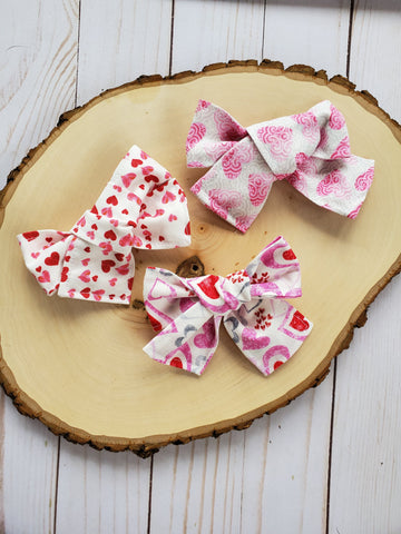 Valentine Bow Set