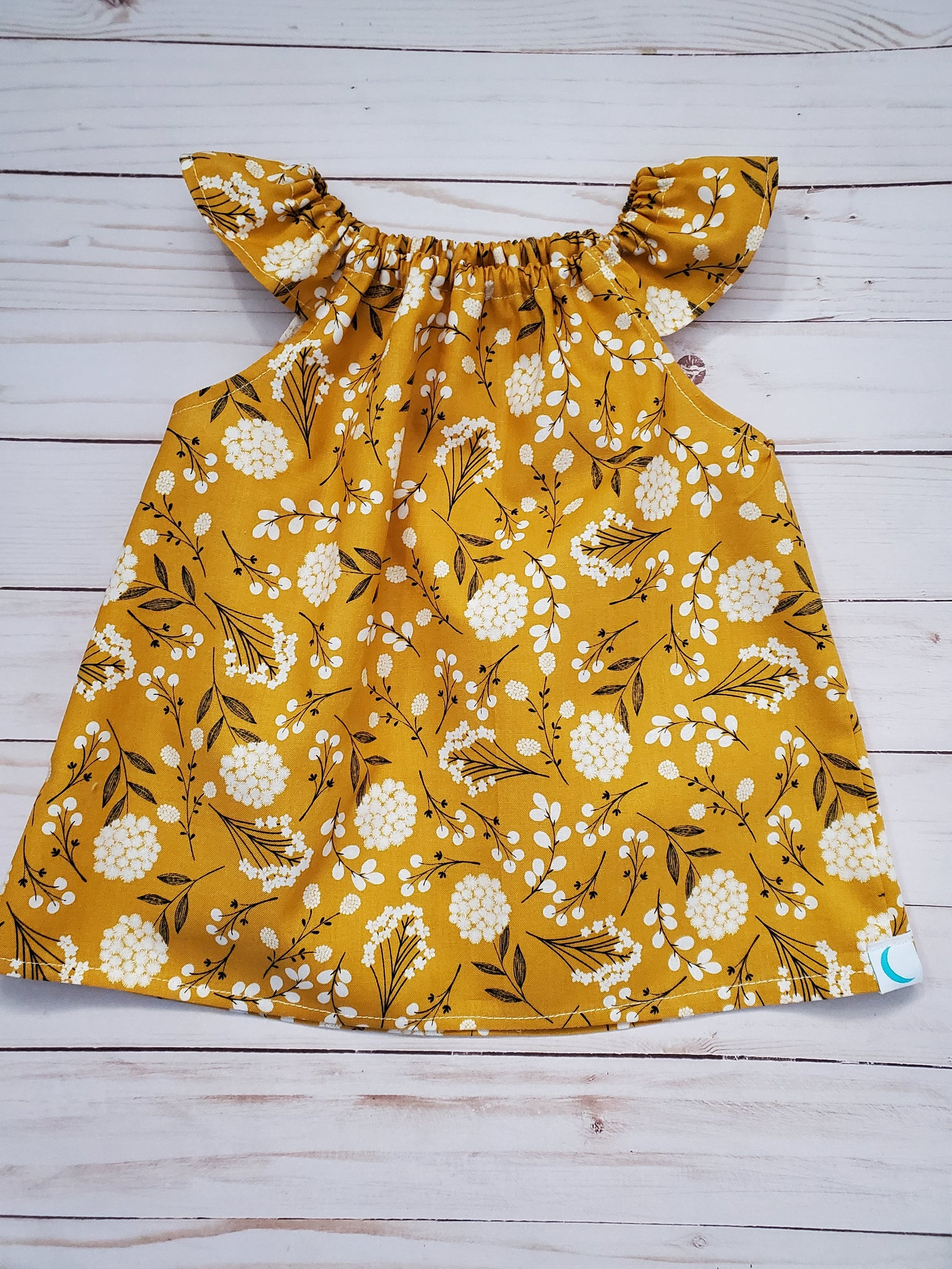 Yellow Floral Simple Top