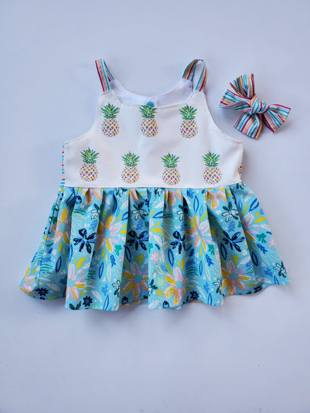 Pineapple Paradise Scallop Back Top