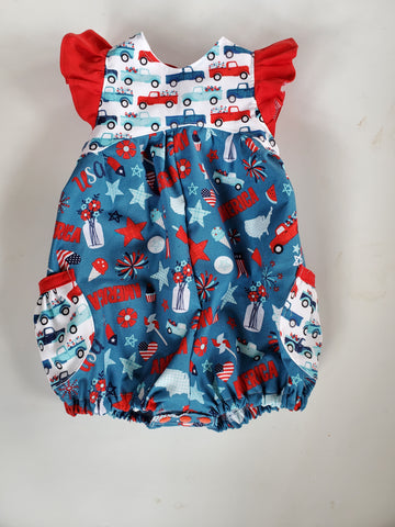 Patriotic 2020 Pocket Romper