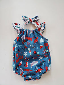 Patriotic 2020 Bubble Romper