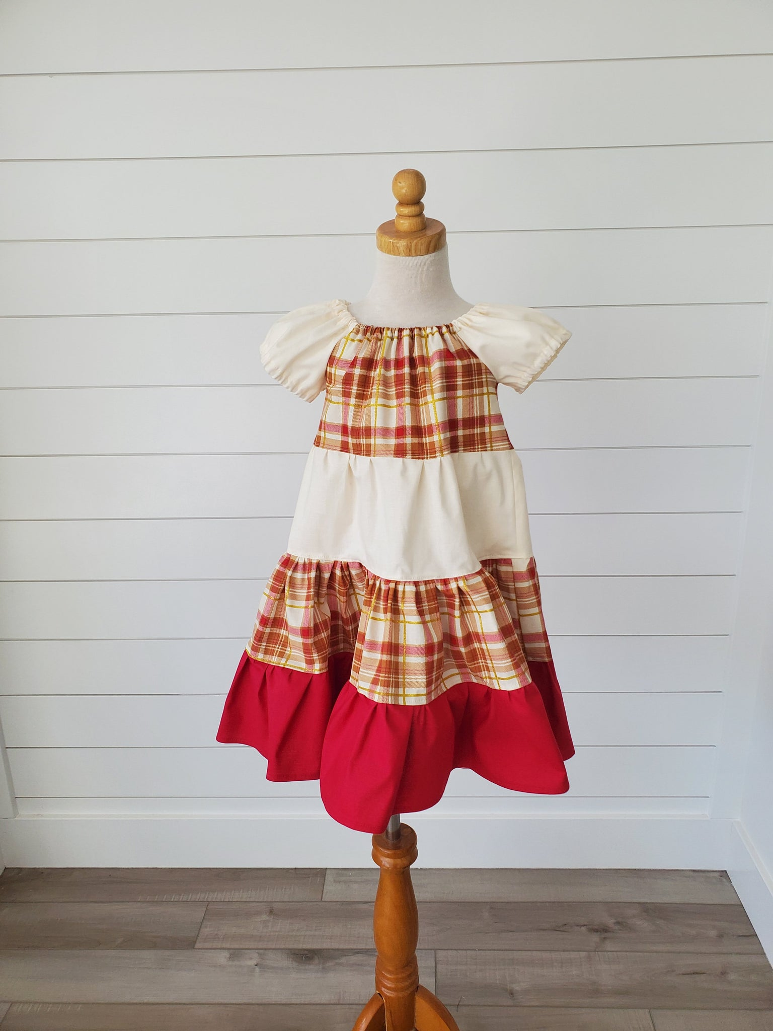 Fall Plaid Twirl Dress