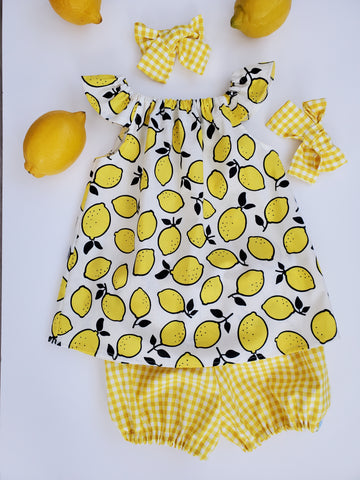 Yellow Gingham Bloomers/Shorts