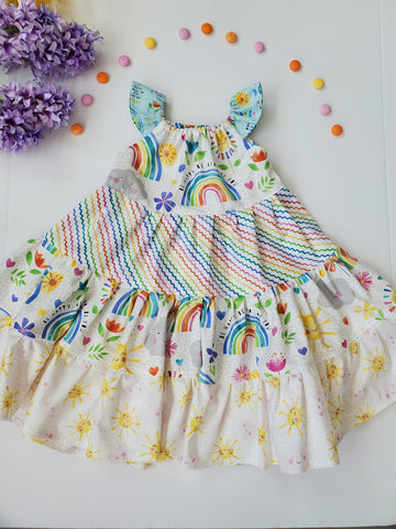 Rainbows and Sunshine Twirl Dress