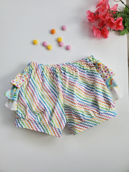 Rainbows and Sunshine Ruffle Bum Shorts