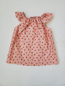 Pink Strawberry Simple Top