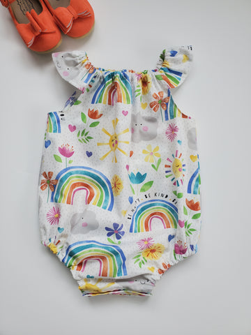 Rainbows and Sunshine Bubble Romper