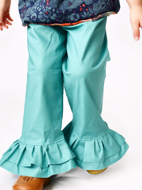Solid Ruffle Pants