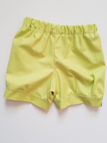 Spring Solid Cuff Shorts