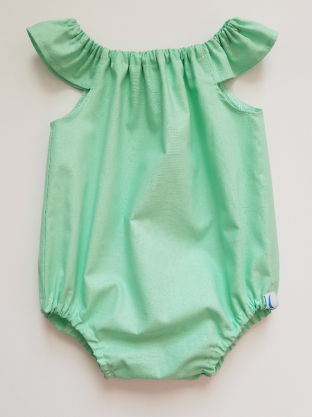 Spring Solid Bubble Romper