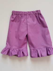 Spring Solid Ruffle Capris