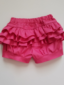 Spring Solid Ruffle Bum Shorts