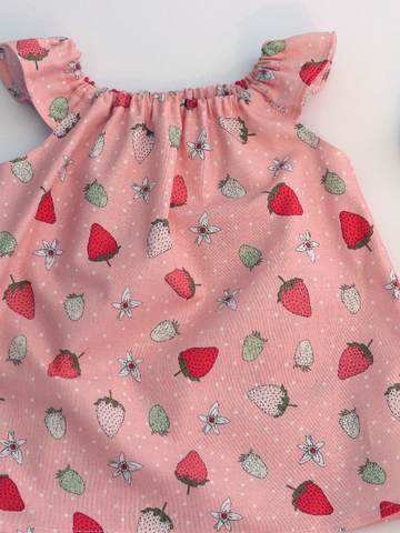 Strawberry Peasant Top