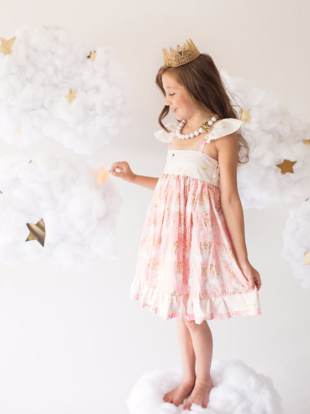 Pink and Gold Unicorn Greta Dress