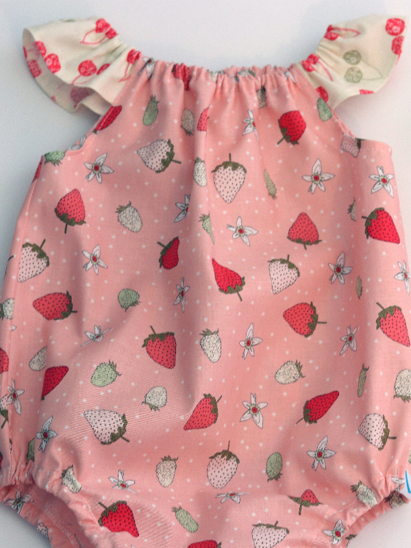 Strawberry Bubble Romper