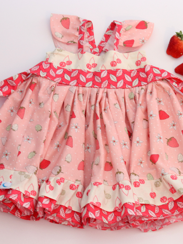 Strawberry Greta Dress