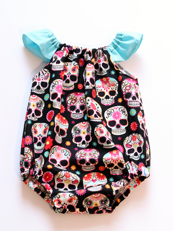 Sugar Skull Bubble Romper