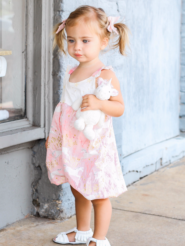 Pink and Gold Unicorn Romper