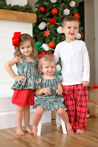 Christmas Flannel Jammie Vintage Top