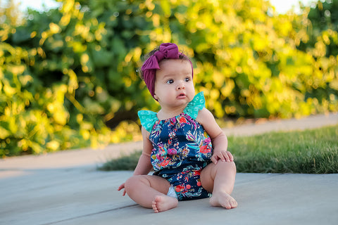 Water Flowers Bubble Romper