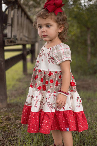 Blu Christmas Cardinals Twirl Dress