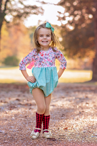 Peppermint Mocha Delainey Romper