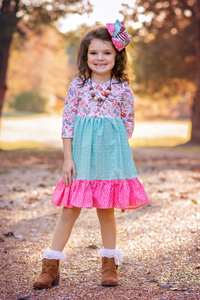 Peppermint Mocha Delainey Dress