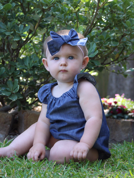 Denim Baby Romper