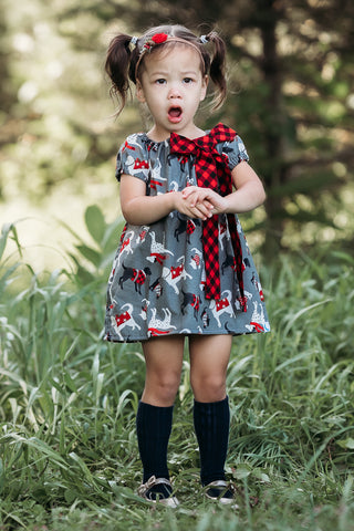 Vintage Christmas Chandler Puppy Dress