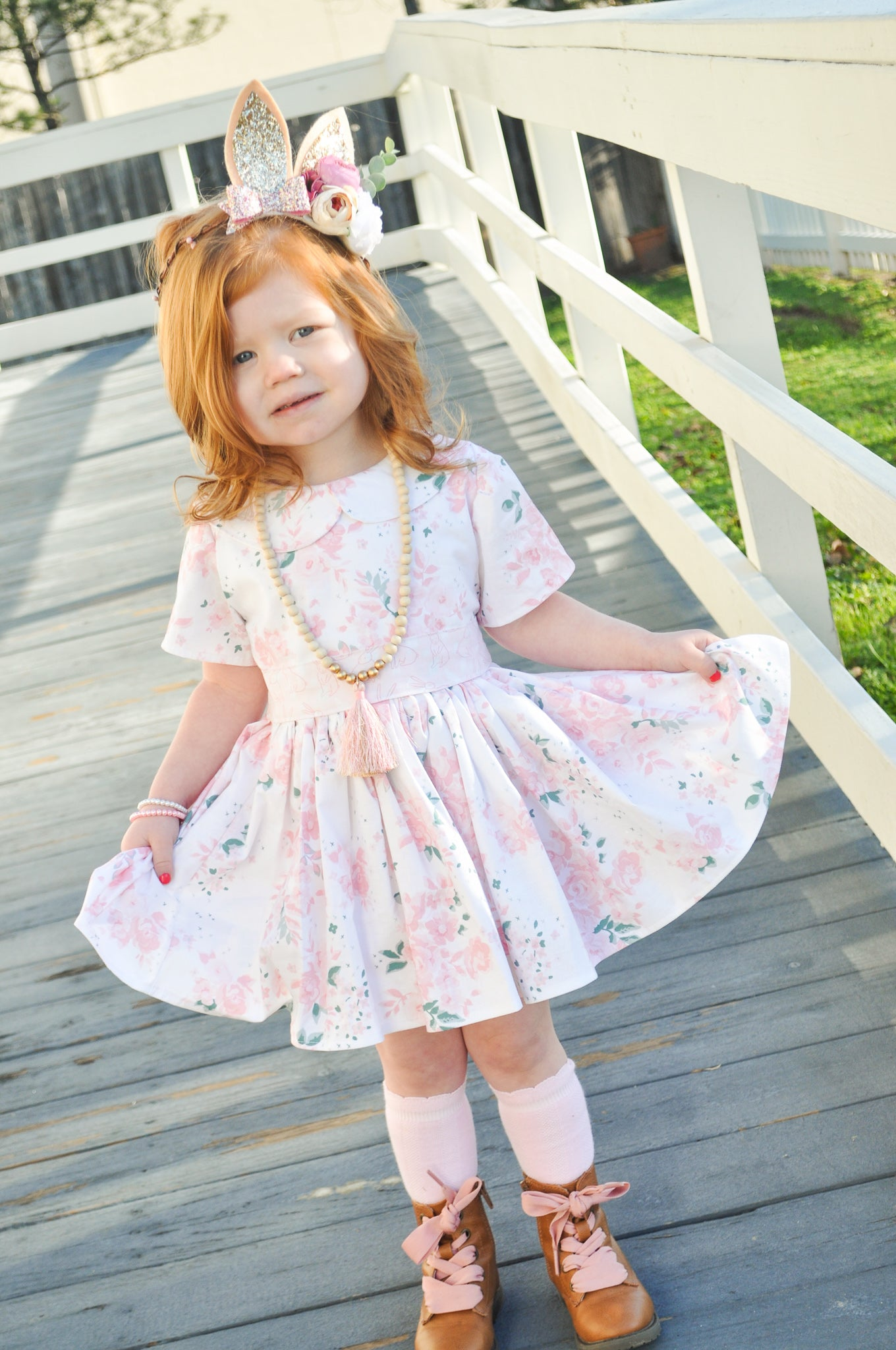 Bunnies and Blooms Caroline Dress
