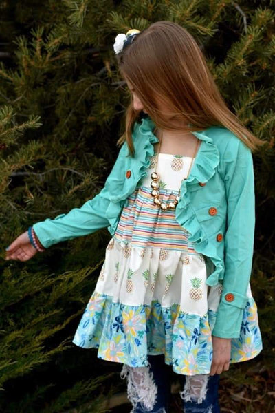 Pineapple Paradise Tunic Twirl Top