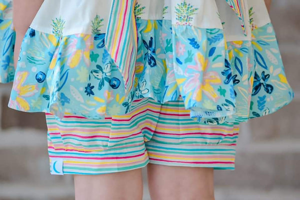 Pineapple Paradise Bloomers/Cuff Shorts