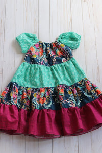 Water Flowers Twirl Dress