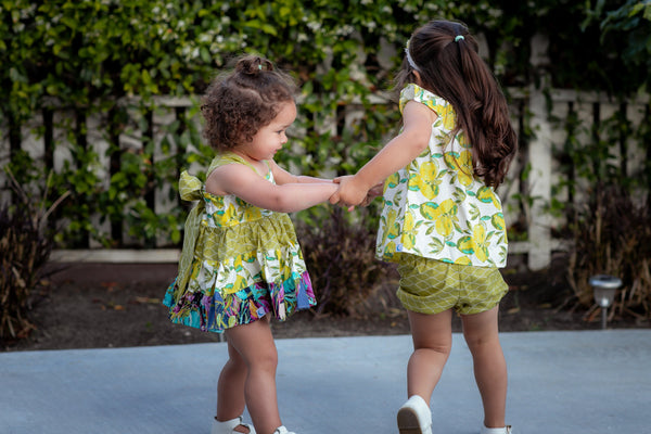 Lemon Zest  Tunic Twirl Top and Bloomer Bundle