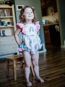Rainbows and Clouds Emmy Romper